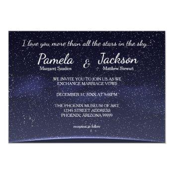Small More Than All The Stars - Wedding Invitation Front View
