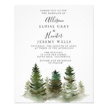 mountain budget wedding invitation  flyer
