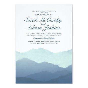 mountain range wedding invite