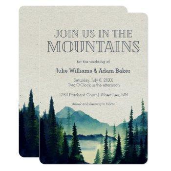 mountain wedding/party invitation