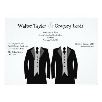 mr. and mr. gay wedding invitation