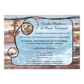 nautical anchor post or after wedding invitation