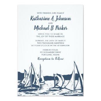 nautical sailboat wedding invitation