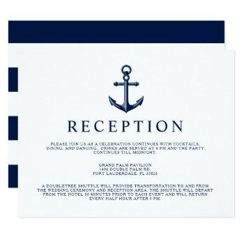 nautical style anchor reception invitation