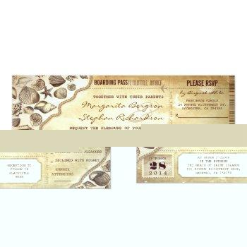 nautical wedding boarding pass tickets invitations