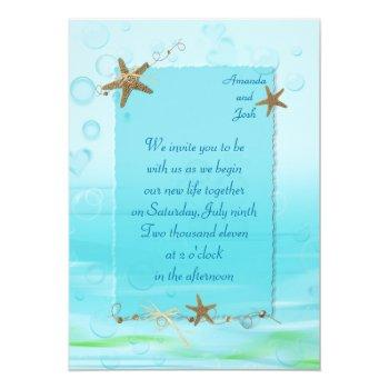 Small Nautical Wedding Invite Front View