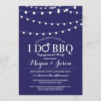 navy i do bbq couple's shower lights invitation
