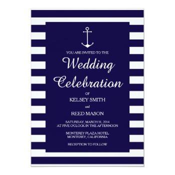 navy nautical : wedding invitations