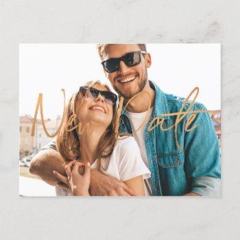 new date wedding change of plans postponement announcement postcard