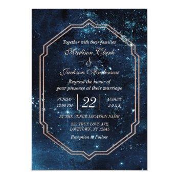 night star sky celestial galaxy wedding invitation