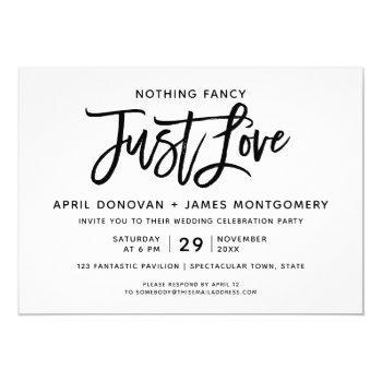 nothing fancy just love  brush typography invitation