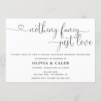 nothing fancy just love wedding invitation