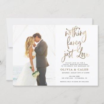 nothing fancy just love wedding reception invitation