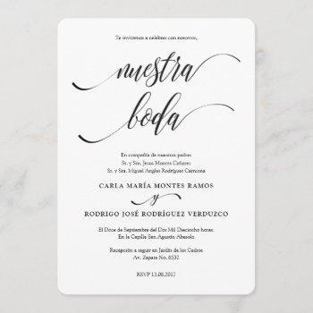 nuestra boda editable spanish wedding invitation