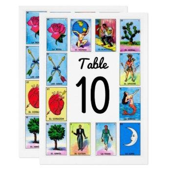 nuestra boda mexican tarot table number