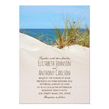 ocean sand creative beach themed wedding invitation