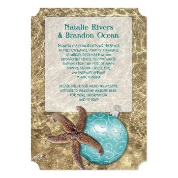 ocean starfish tropical christmas wedding invitation