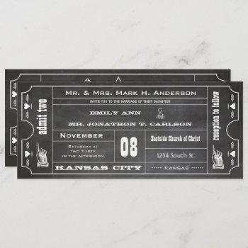 old hollywood chalkboard ticket typography invite