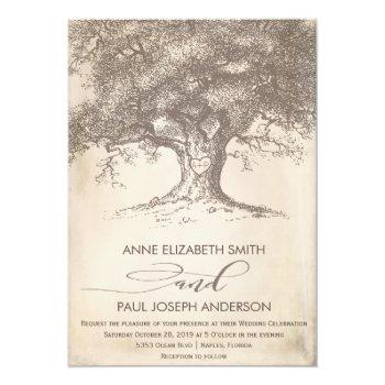 old tree wedding invitation