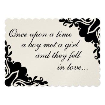 once upon time... wedding invitation