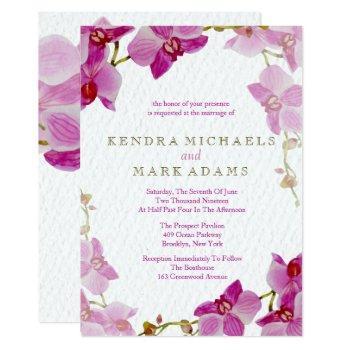 orchid paradise wedding invitations