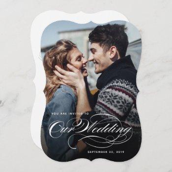 our big photo wedding invitation