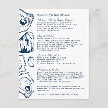 oyster wedding details invitation