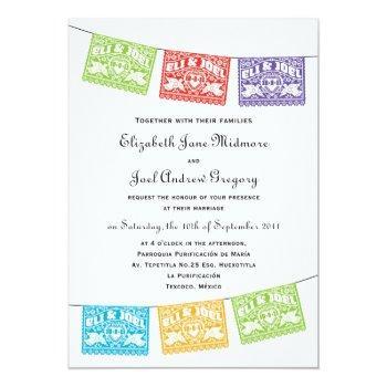 papel picado love birds wedding banners invitation