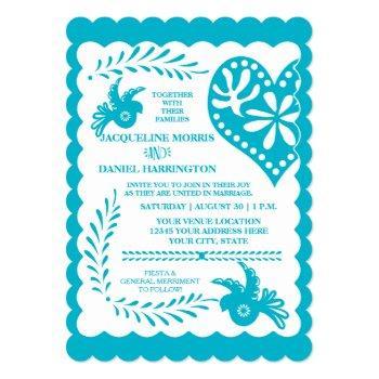 papel picado mexican fiesta wedding banner theme invitation
