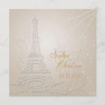 paris, fall + winter wedding  invitations