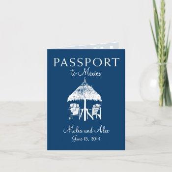 passport to mexico wedding invitation