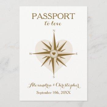 passport wedding invite - destination travel theme