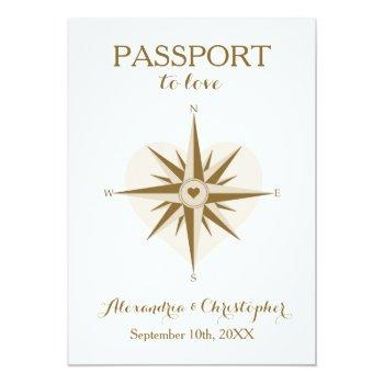 passport wedding invite - destination travel theme