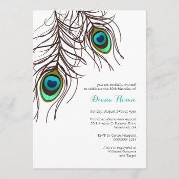 peacock invitation - wedding, birthday & more