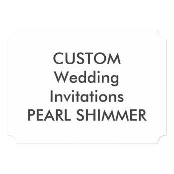 "pearl 7"" x 5"" ticket wedding invitations"