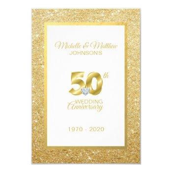 personalized 50th golden wedding anniversary invitation