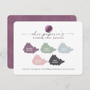 pink & dusty blue 2021 wedding color palette card