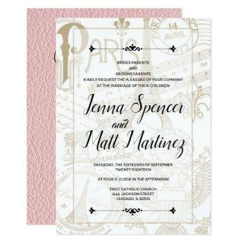 pink france passport invitation