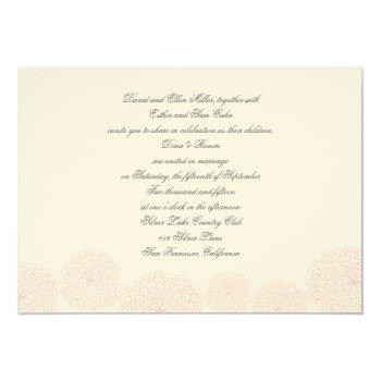 pink grey wedding invitation
