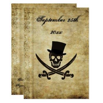 pirate wedding invtation invitation