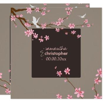 pixdezines cherry blossom/diy background color invitation