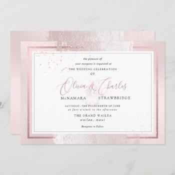 pixdezines double happiness, blush pink invitation