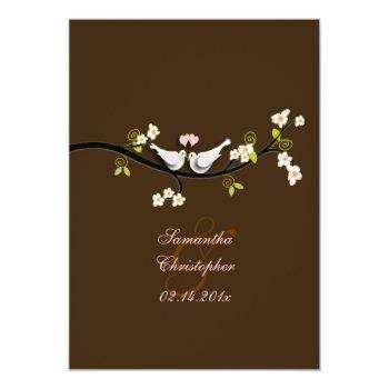 pixdezines doves/love birds/diy background color! invitation
