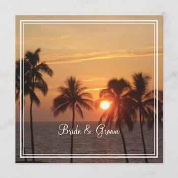 pixdezines sunset at mauna kea beach/orange glow invitation