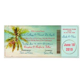 pixdezines vintage beach boarding pass invitation