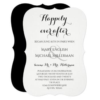 post wedding reception happily ever after invitation