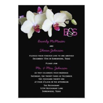 post wedding reception invitation, orchids invitation