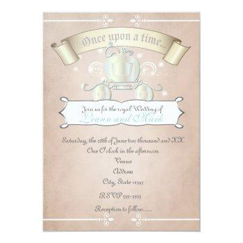 princess cinderella royal carriage wedding invite