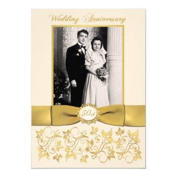 printed ribbon 50th anniversary invite