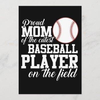proud mom of the cutest baseball t-shirts